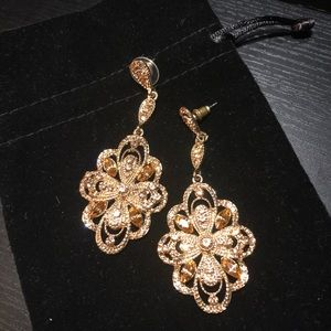 Fancy, sparkly statement earrings.  Mint condition